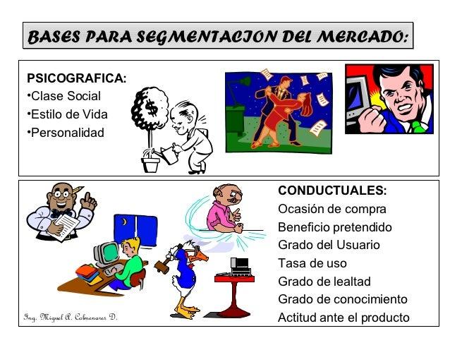 BASES PARA SEGMENTACION DEL MERCADO: PSICOGRAFICA: •Clase Social •Estilo de Vida •Personalidad                            ...