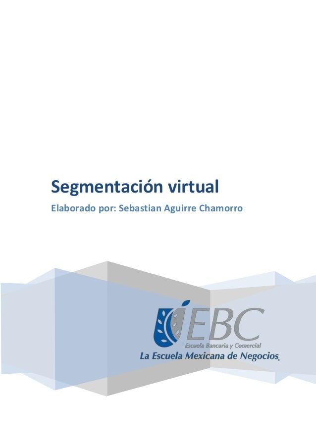 Segmentación virtual Elaborado por: Sebastian Aguirre Chamorro
