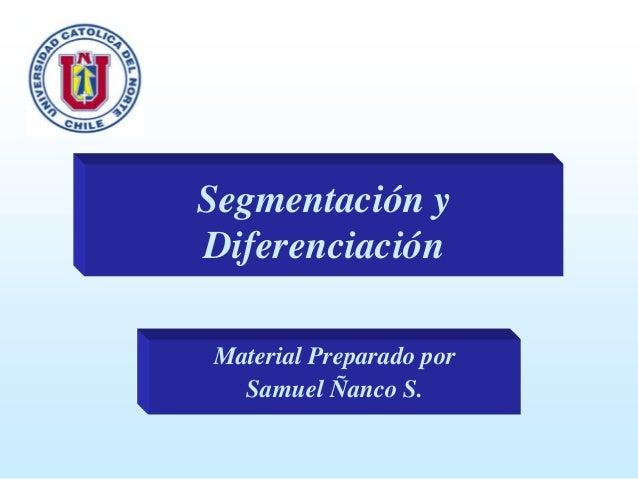 Segmentación y Diferenciación Material Preparado por Samuel Ñanco S.