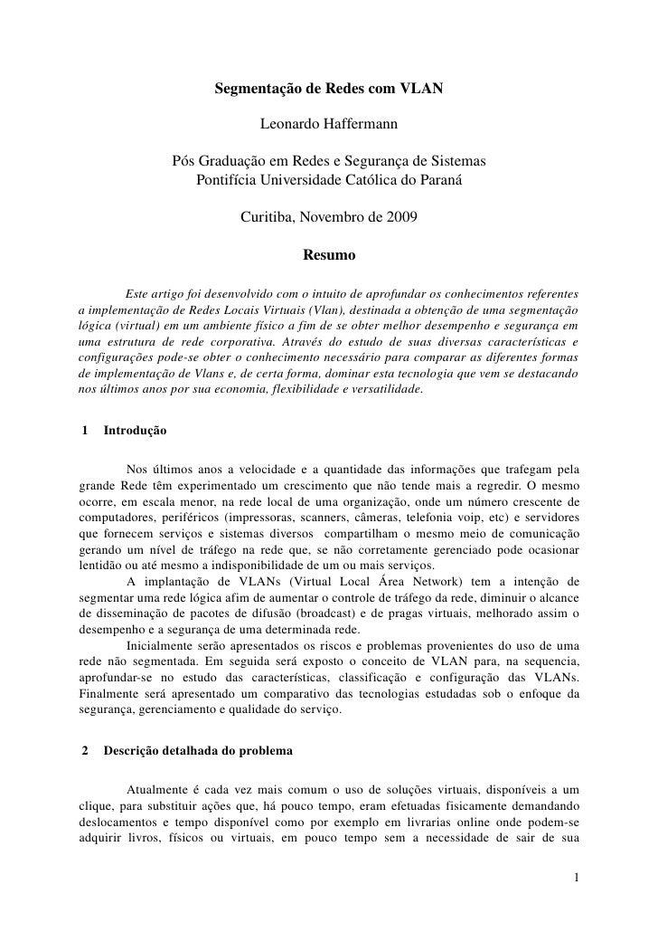 SegmentaçãodeRedescomVLAN                                        LeonardoHaffermann                     PósGraduação...