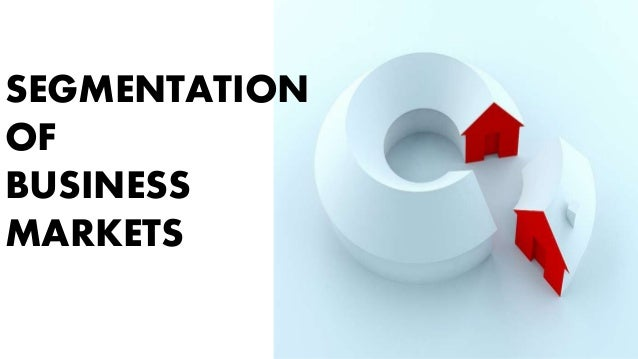 SEGMENTATION OF BUSINESS MARKETS
