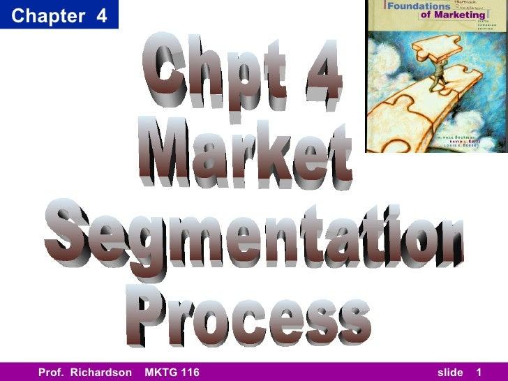 Chapter 4  Prof. Richardson   MKTG 116   slide   1