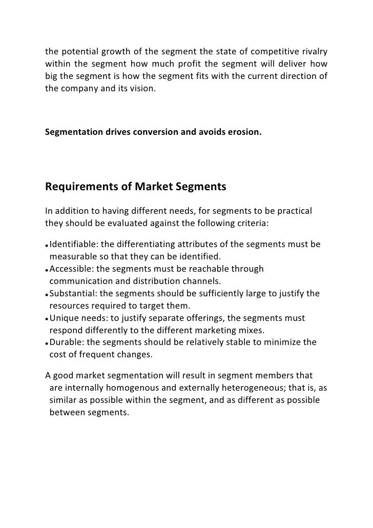 market segmentation of jeans brand Video created by university of pennsylvania for the course introduction to marketing professor kahn starts us off with the first of two branding modules: marketing strategy and brand.