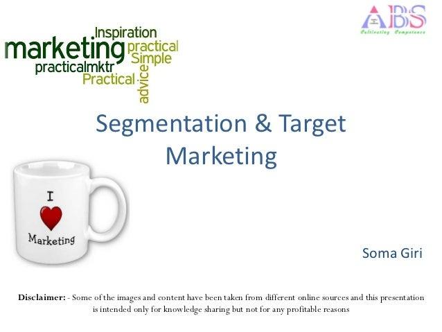 Segmentation & Target                          Marketing                                                                  ...