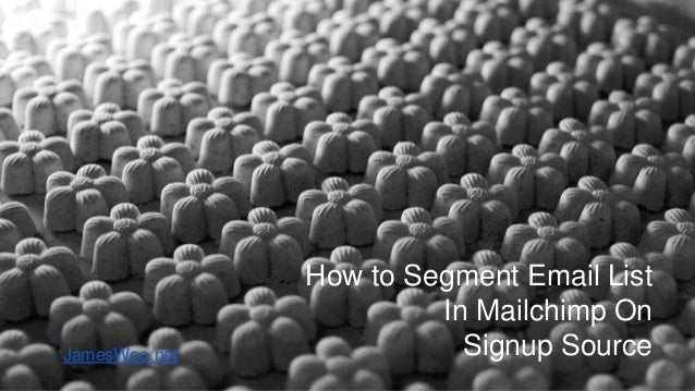 How to Segment Email List In Mailchimp On Signup SourceJamesWoo.net
