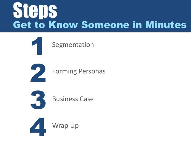Steps in dating someone