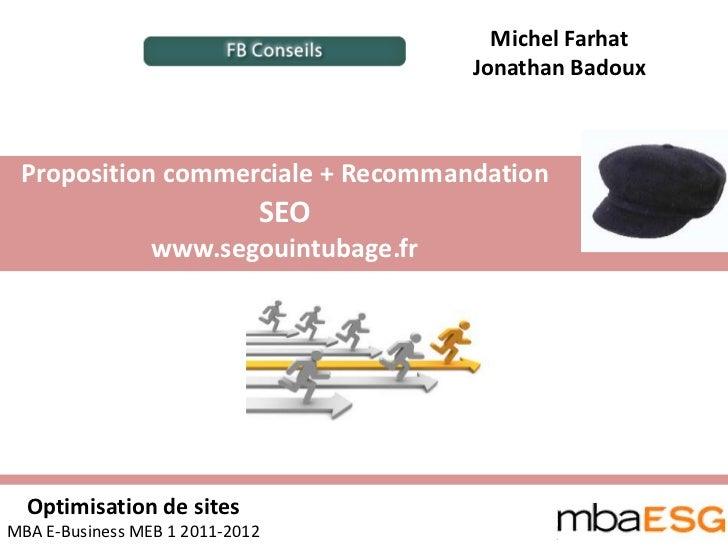 Michel Farhat                                        Jonathan Badoux Proposition commerciale + Recommandation             ...