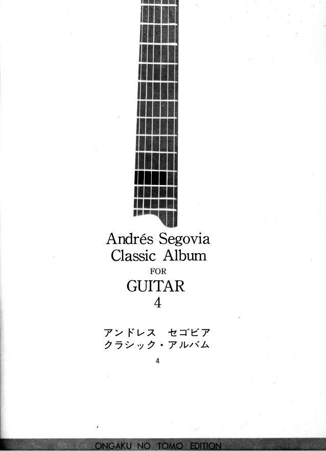 "ilil1 AndresSegovia ClassicAlbum FOR GUITAR T> f.""tz -lz=""e7 2 _ 2 . y 2 . 7 ) V t t . l ;"