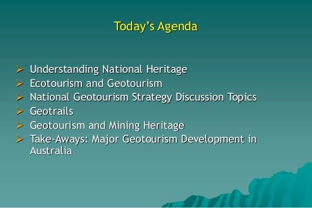 Strategic Directions for Geotourism Development in Australia Slide 3