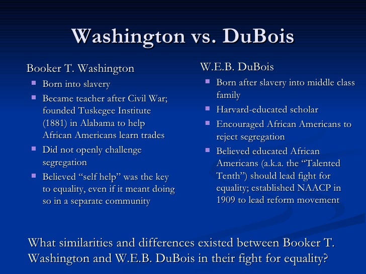 an analysis of tones in the writings of booker washington and w e b du bois
