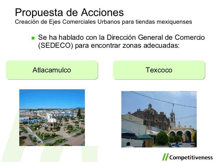 <ul><li>Se ha hablado con la Dirección General de Comercio (SEDECO) para encontrar zonas adecuadas: </li></ul>Propuesta de...