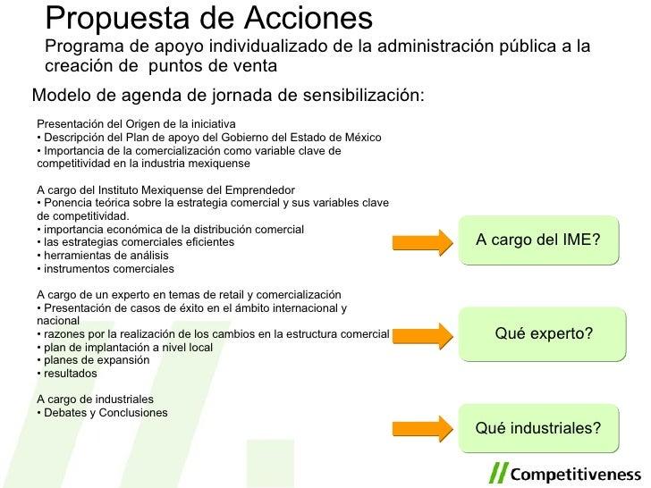 <ul><li>Modelo de agenda de jornada de sensibilización: </li></ul>Propuesta de Acciones Programa de apoyo individualizado ...