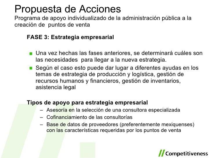<ul><li>FASE 3:  Estrategia empresarial </li></ul><ul><li>Una vez hechas las fases anteriores, se determinará cuáles son l...