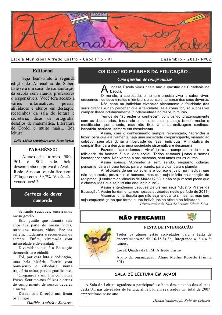 Escola Municipal Alfredo Castro – Cabo Frio - RJ                                              Dezembro – 2011- Nº02       ...