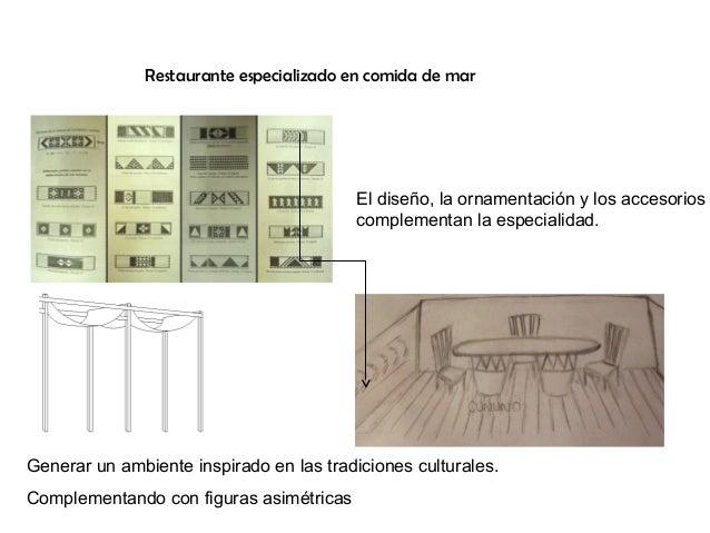 Restaurante especializado en comida de mar  El diseño, la ornamentación y los accesorios complementan la especialidad.  Ge...