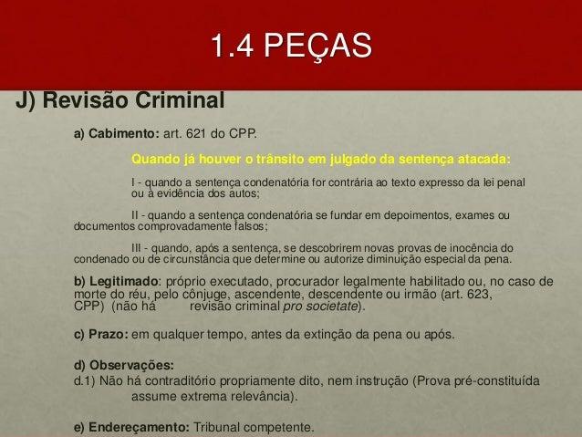 Revisao criminal cabimento