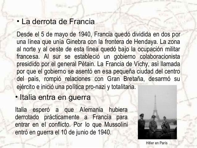"""• La batalla de Inglaterra Siendo Inglaterra el único país que restaba por adquirir, la """"Luftwaffe"""" bombardeó a este país,..."""