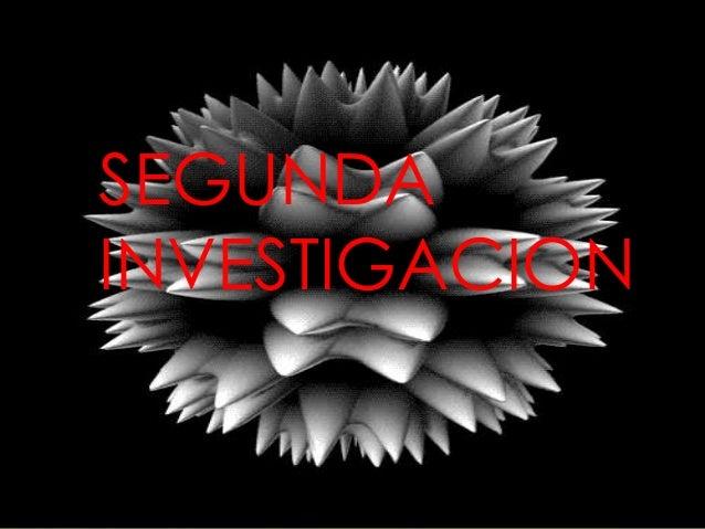 SEGUNDA INVESTIGACION