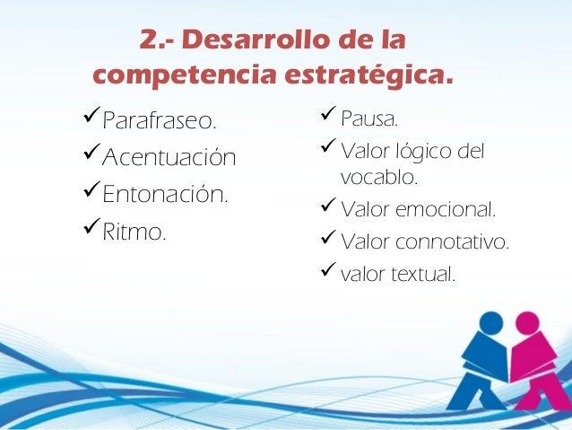 4.- Desarrollo de la      competencia sociolingüística Conocimientocultural.      Conocimiento de costumbres. Conocimi...