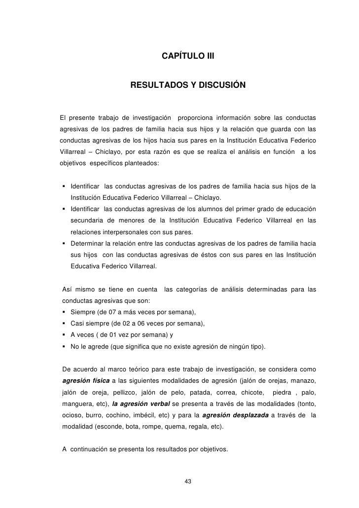 CAPÍTULO III                       RESULTADOS Y DISCUSIÓNEl presente trabajo de investigación    proporciona información s...