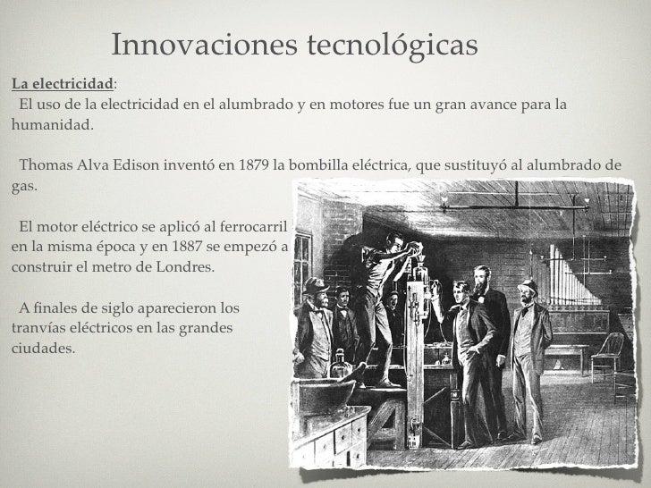 innovaciones tecnologicas 2 revolucion industrial