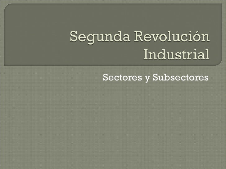 Sectores y Subsectores