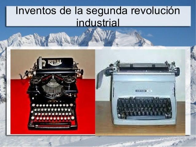 invenciones de la segunda revolucion industrial