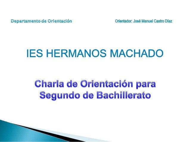 Si obtienes el título de Bachillerato y quieres seguir estudiando… • Estudiar un Ciclo Formativo de Grado Superior • Solic...