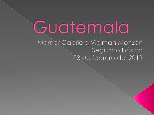  Moneda: Quetzal Población: 14,757,316 Extensión:108,889 kms Bandera: