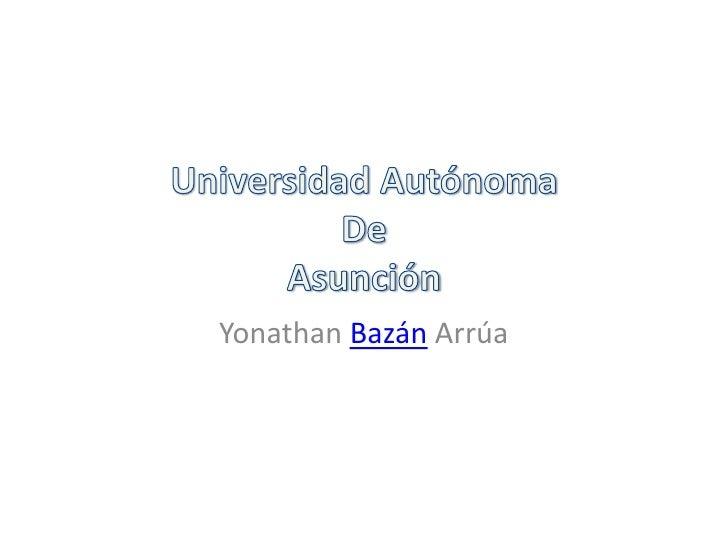Yonathan Bazán Arrúa