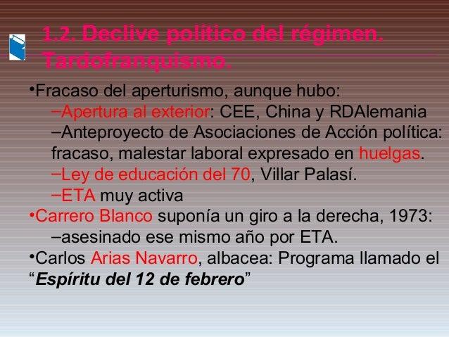 Segundo franquismo for Educacion exterior marruecos