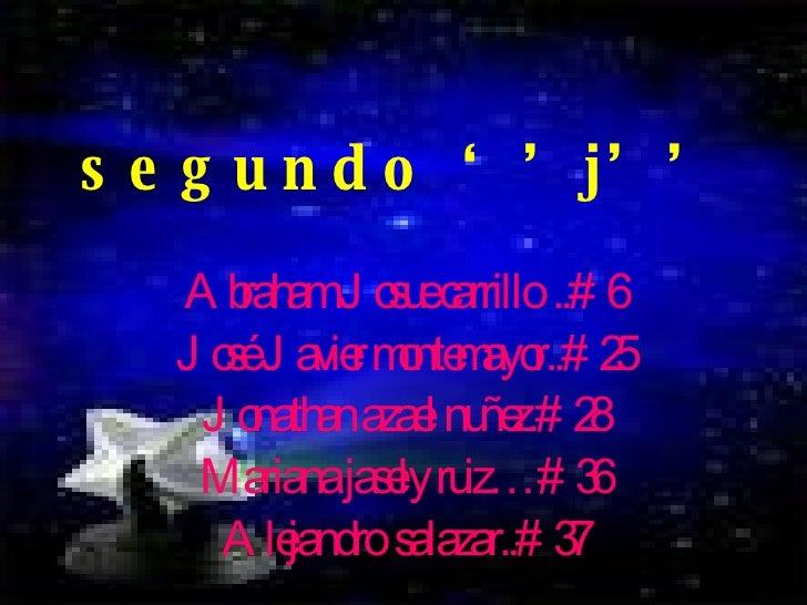 segundo ''j'' Abraham Josue carrillo  ..#6 José Javier montemayor..#25 Jonathan azael nuñez.#28 Mariana jasely ruiz…#36 Al...