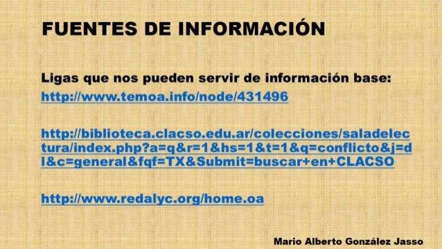 FUENTES DE INFORMACIÓN  Ligas que nos pueden servir de información base:  http: /lwww. temoa. info/ node/431496  httpfl/ bi...