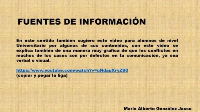FUENTES DE INFORMACIÓN  En este sentido también sugiero este video para alumnos de nivel Universitario por algunos de sus ...