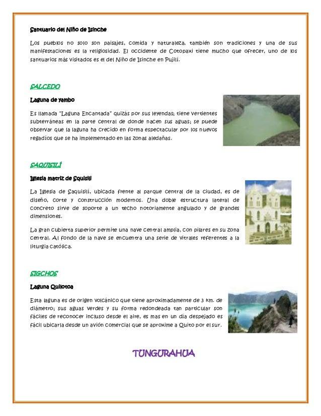 Atractivos turisticos del ecuador for Como hacer una laguna artificial