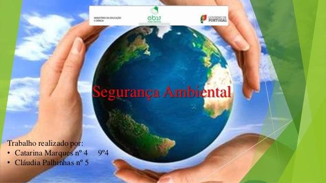 Segurança Ambiental Trabalho realizado por: • Catarina Marques nº 4 • Cláudia Palhinhas nº 5  9º4