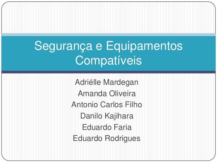 Segurança e Equipamentos      Compatíveis       Adriélle Mardegan        Amanda Oliveira      Antonio Carlos Filho        ...