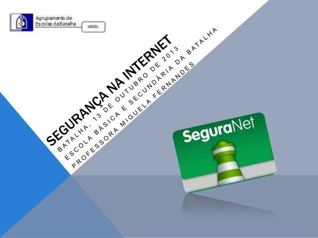 SUMÁRIO Internet segura Rede social Facebook Cuidados Como agir Mundo virtual/real
