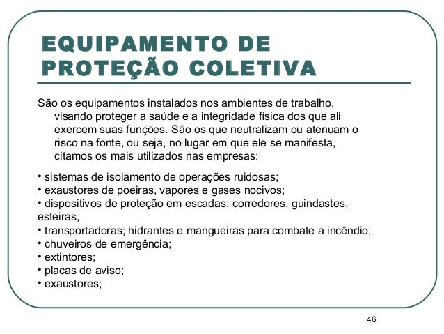 EQUIPAMENTO DE PROTEÇÃO COLETIVA ... d25910fe49