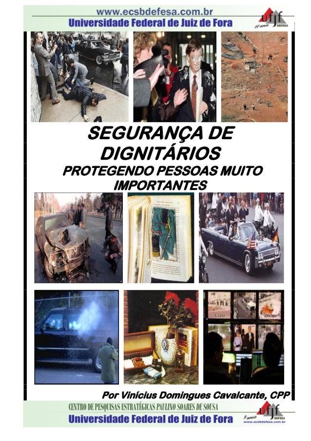SEGURANÇA DE DIGNITÁRIOS PROTEGENDO PESSOAS MUITO IMPORTANTES Por Vinícius Domingues Cavalcante, CPP