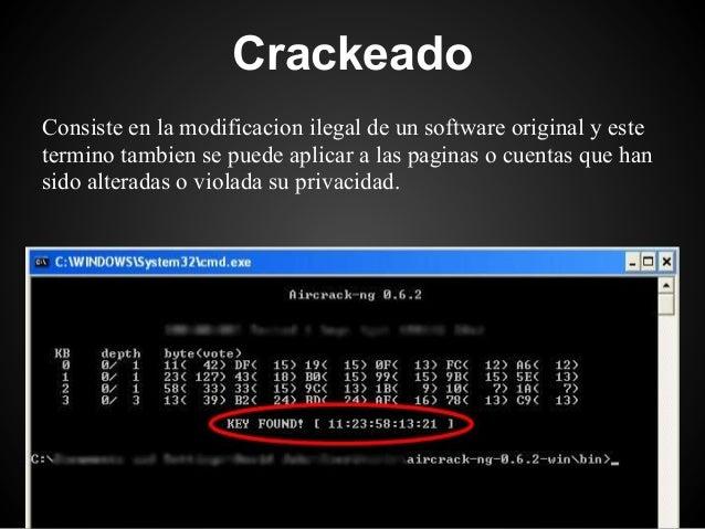 CrackeadoConsiste en la modificacion ilegal de un software original y estetermino tambien se puede aplicar a las paginas o...