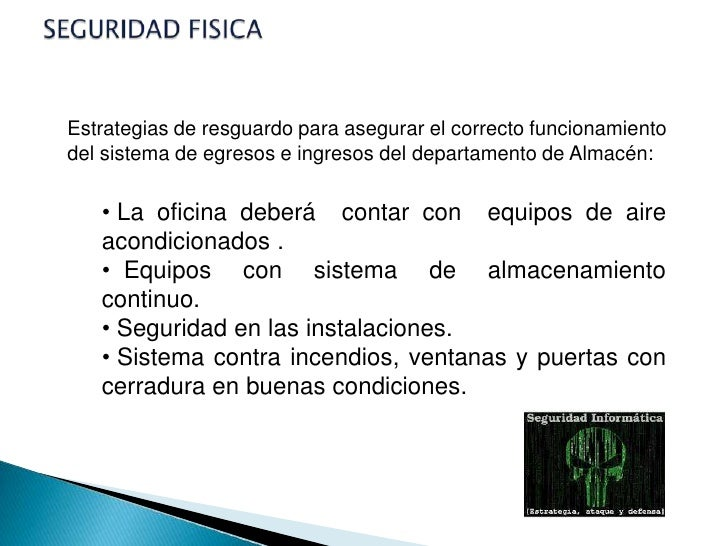 Seguridad defensa for Oficina fisica ing