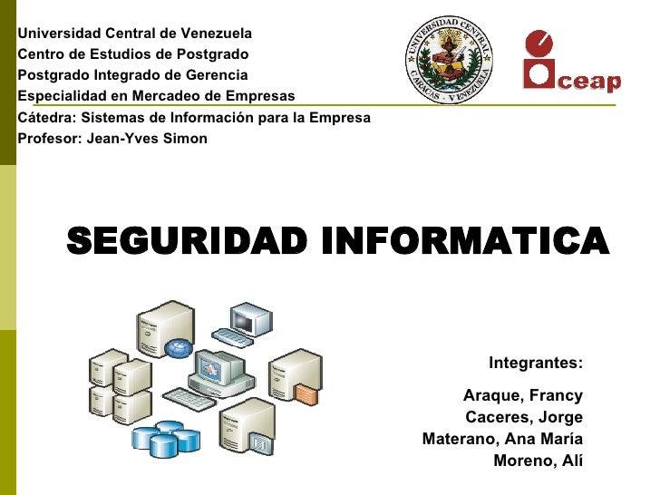 Universidad Central de Venezuela Centro de Estudios de Postgrado Postgrado Integrado de Gerencia Especialidad en Mercadeo ...