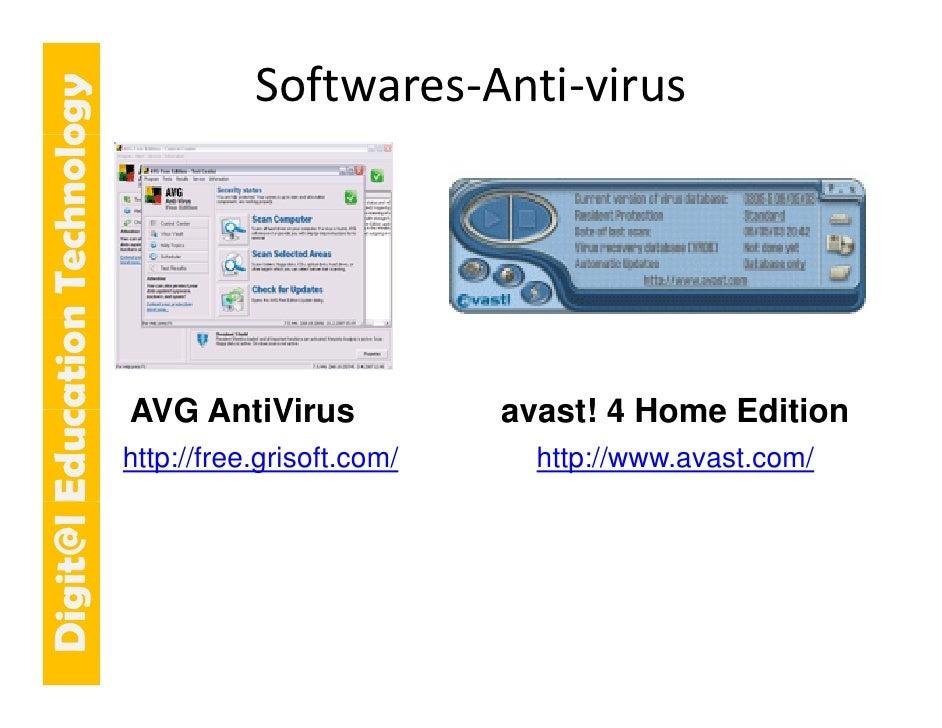 E cation Tech ogy                n    hnolo              Softwares‐Anti‐virus                                 AVG AntiViru...