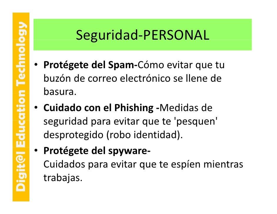 E cation Tech ogy                                      Seguridad PERSONAL                                      Seguridad‐...