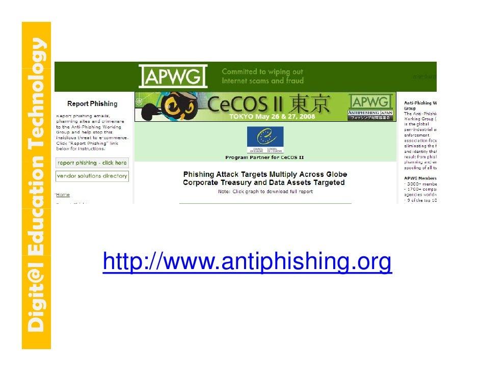 E cation Tech ogy   git@l Educ   n    hnolo                                 http://www.antiphishing.org                   ...