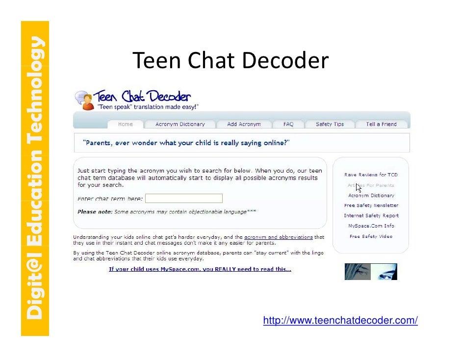 E cation Tech ogy                             TeenChatDecoder                             Teen Chat Decoder   git@l Educ...