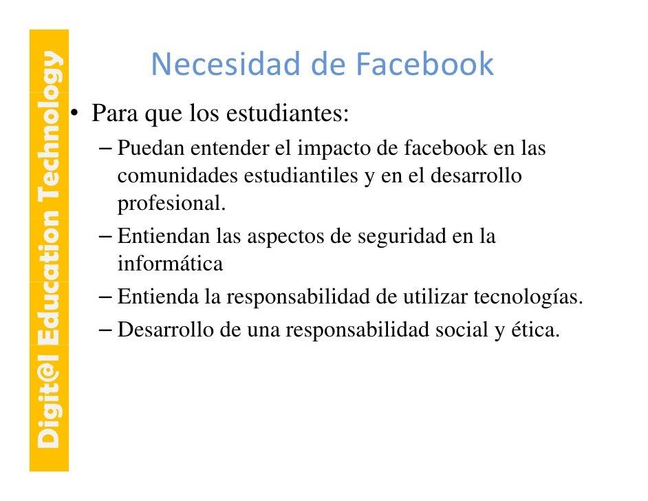 E cation Tech ogy                     hnolo                                    Necesidad deFacebook                      ...