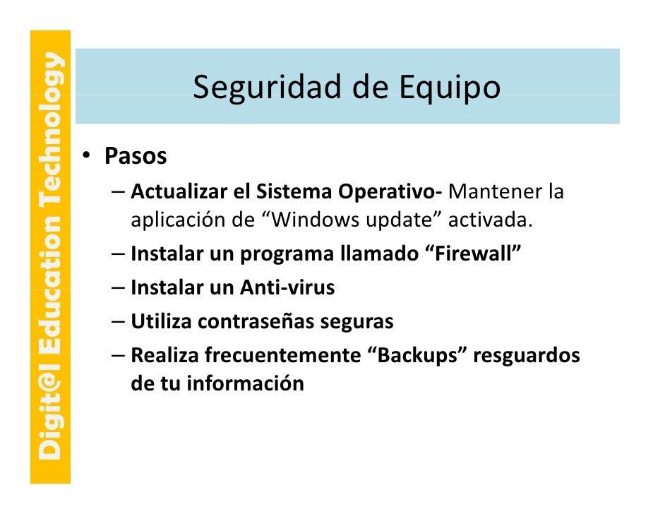 E cation Tech ogy                                       SeguridaddeEquipo                                       Segurida...