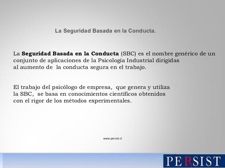 Seguridad basada en la conducta Slide 2